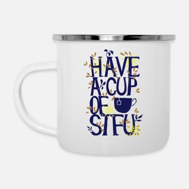 Typo Have a Cup of SFTU - Take a cup - Enamel Mug