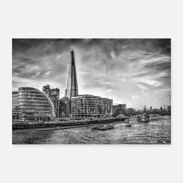 Gebouw The Shard Building London - Poster 90x60 cm