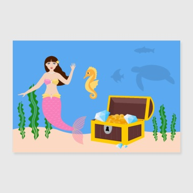 Under the sea poster - Poster 36 x 24 (90x60 cm)