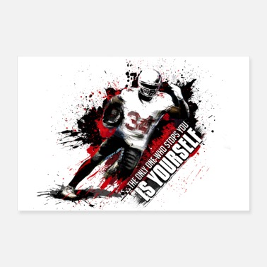 American Football American Football Player - Poster 90x60 cm