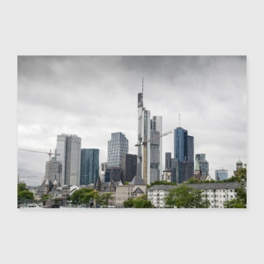 Frankfurt on the Main Skyline City skyscrapers - Poster 36 x 24 (90x60 cm)