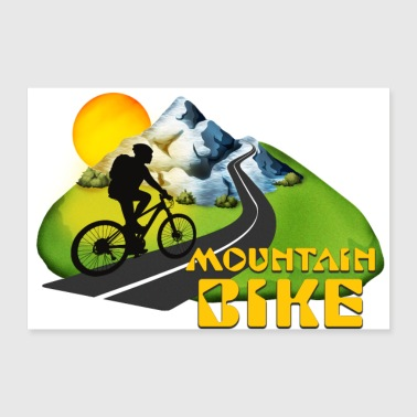 Mountain bike - Poster 90x60 cm