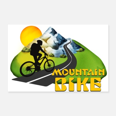 Bike Mountain bike - Poster 90x60 cm