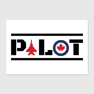 Piloto Nose Art Pilot Canada maple leaf - idea de regalo - Póster 90x60 cm