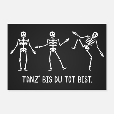 Jumpstyle Dancing skeletons poster - Poster