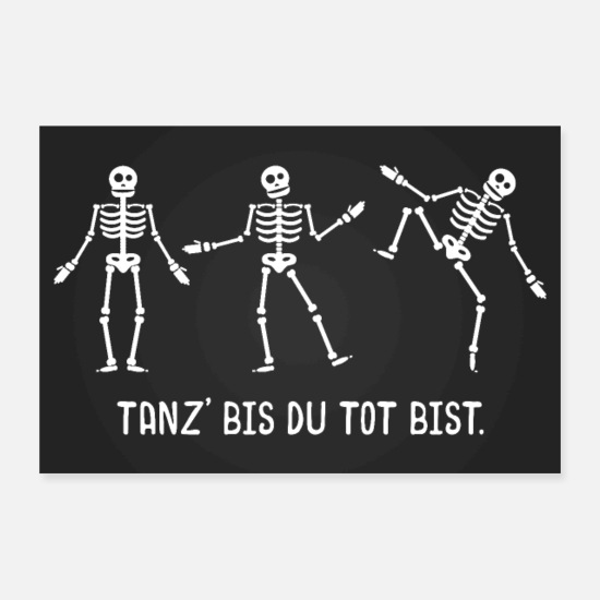 Street Dance Posters - Dancing skeletons poster - Posters white