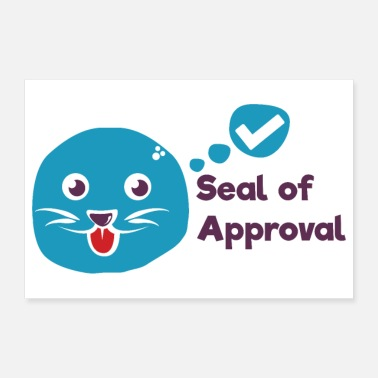 Tick Seal of approval sweet sea seals sign tick - Poster