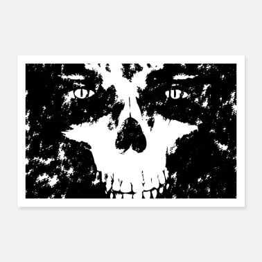 Thrash Skull with eyes. Top design - Poster 36 x 24 (90x60 cm)