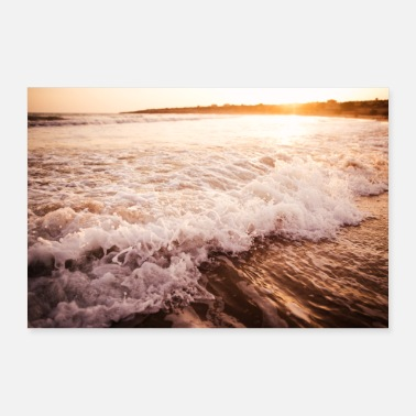 Vacation Waves vacation Italy sea beach - Poster 36 x 24 (90x60 cm)