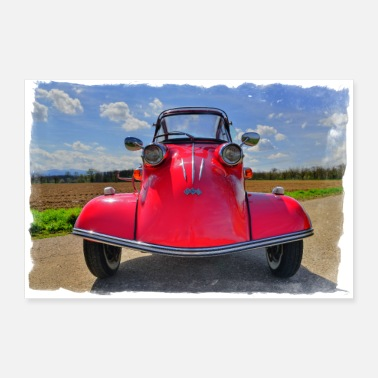 Freak Car faces classic car 1.0 - Poster 36 x 24 (90x60 cm)
