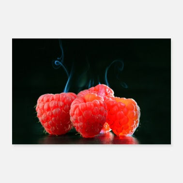 Picture Fruits framboises chauds ART GALLERY PICTURE - Poster 90 x 60 cm