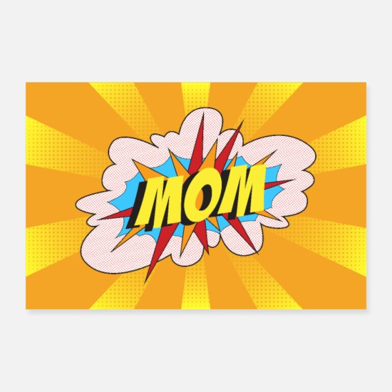 Familie Posters - MOM Popart - Posters hvid