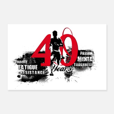 40th Birthday Runner - 40th Birthday - Poster