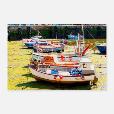 Harbour Fishing Boats at tides out - Poster