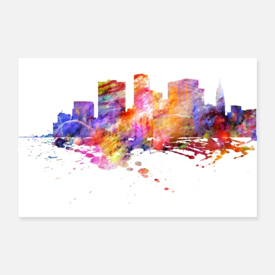York Posters - New York Skyline - Posters blanc