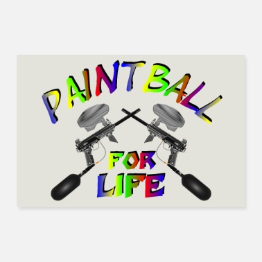 Markieren Paintball for Life - Poster