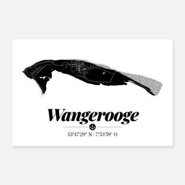 East Frisia Wangerooge | Map poster | Minimalistic - Poster