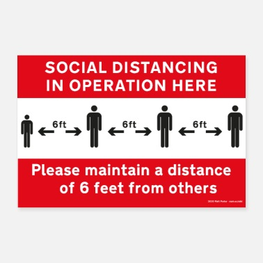 Operator Social Distancing in Operation Poster (US) - Poster