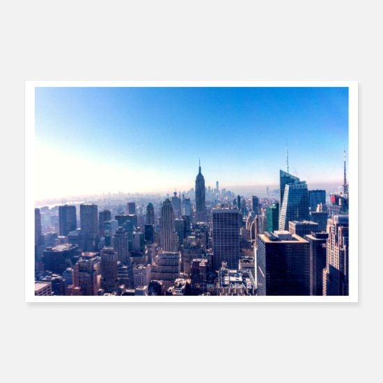 York Posters - New York - Empire State Building - Posters blanc