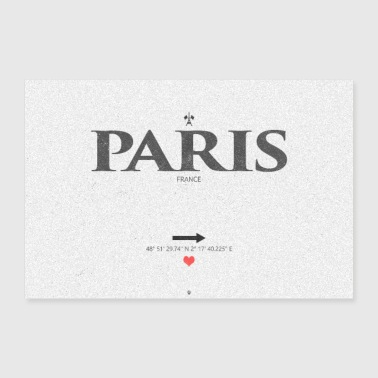 I Love Paris - Poster 90x60 cm