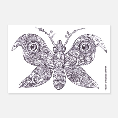 Strange Sammelsurium Schmetterling - the Art of M.K. - Poster 90x60 cm