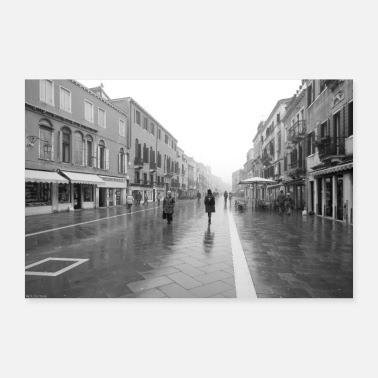 Rain Venice in the rain - Poster 36 x 24 (90x60 cm)
