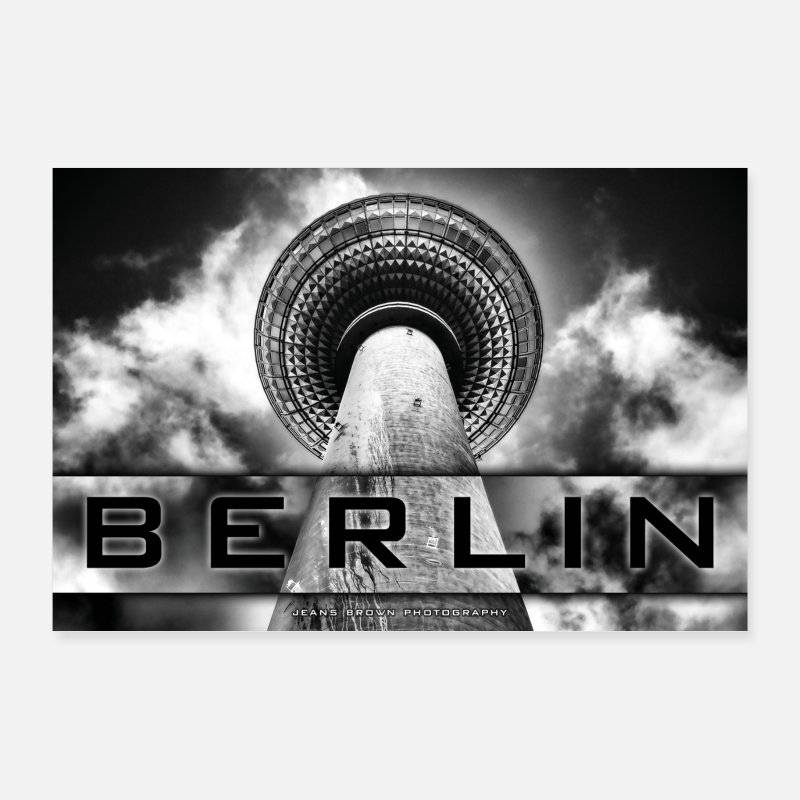 Televisietoren Posters - Berlin TV Tower - Jeans Brown Photography - Posters wit