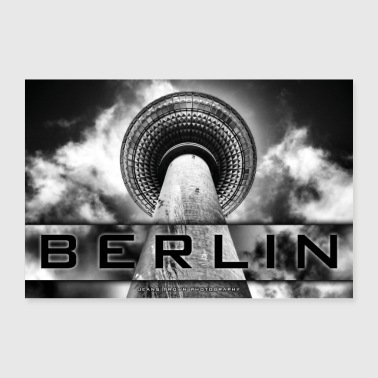 Berlin TV Tower - Jeans Brown Photography - Poster 90x60 cm