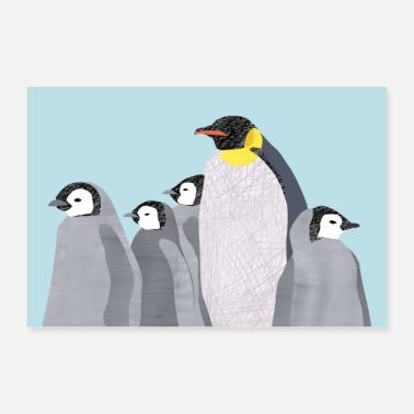 Animal Collection penguins - Poster 36 x 24 (90x60 cm)