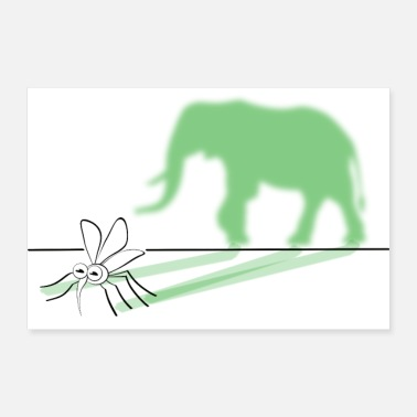Mosquito Out of a mosquito make an elephant drawing - Poster