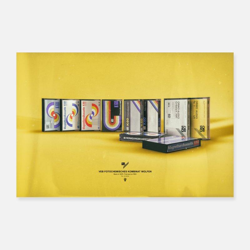 suchbegriff 39 kassette 39 poster online bestellen spreadshirt. Black Bedroom Furniture Sets. Home Design Ideas