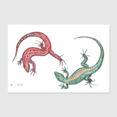 Lizzard's Lizards 3: 2 - Poster 90x60 cm