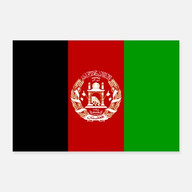 Afghanistan Afghanistan Flagge - Poster
