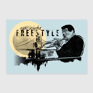 Jazz Freestyle - Poster 90 x 60 cm
