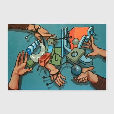 hands and things - Poster 36 x 24 (90x60 cm)