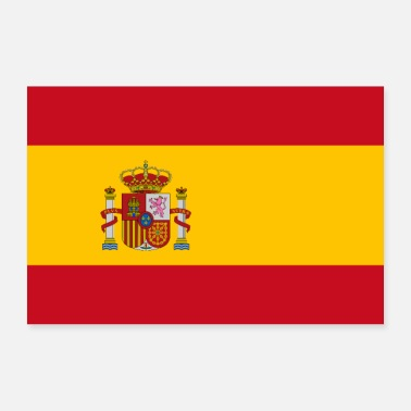 Band Spain flag - Poster 36 x 24 (90x60 cm)