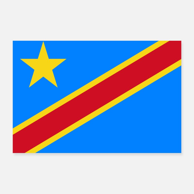 Congo Posters - Democratic Republic of the Congo flag - Posters white