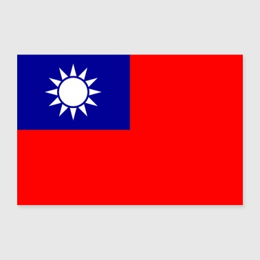 Republic of China flag - Poster 36 x 24 (90x60 cm)