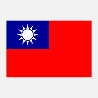 China Republik China Flagge - Poster 90x60 cm