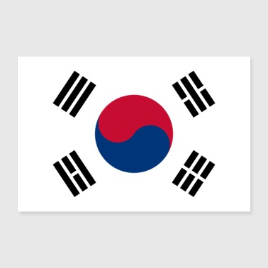 South Korea flag - Poster 36 x 24 (90x60 cm)