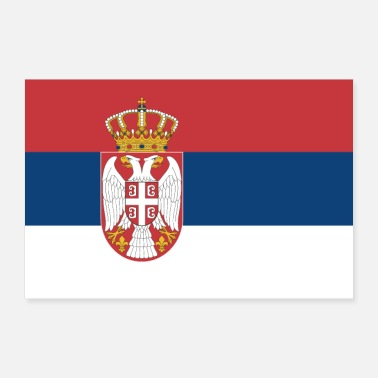 Band Serbia flag - Poster 36 x 24 (90x60 cm)
