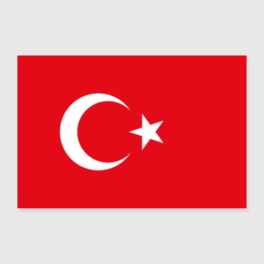 Turkey flag - Poster 36 x 24 (90x60 cm)