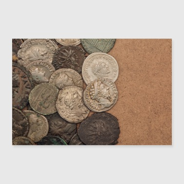 Ancient Roman coins (poster) - Poster 36 x 24 (90x60 cm)