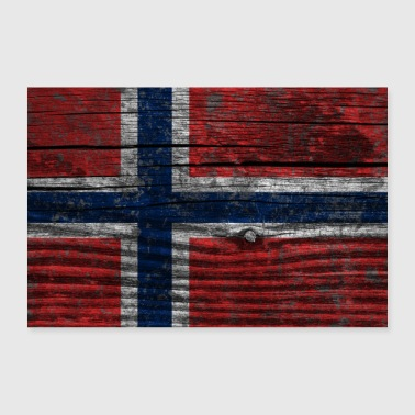 Norway Flag (Poster) - Poster 90x60 cm