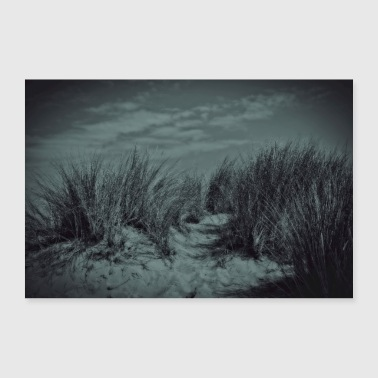 Atmospheric dunes on the North Sea coast - Poster 36 x 24 (90x60 cm)