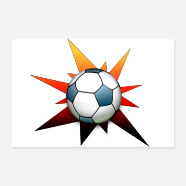 Black Red Gold Star Football Black Red Gold Gifts - Poster