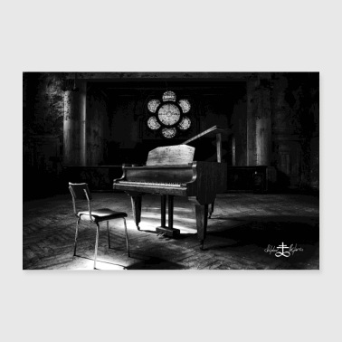 Lost Place - piano - Poster 36 x 24 (90x60 cm)
