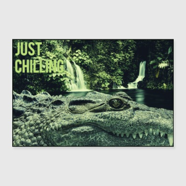 Just Chilling - crocodile - Poster 36 x 24 (90x60 cm)