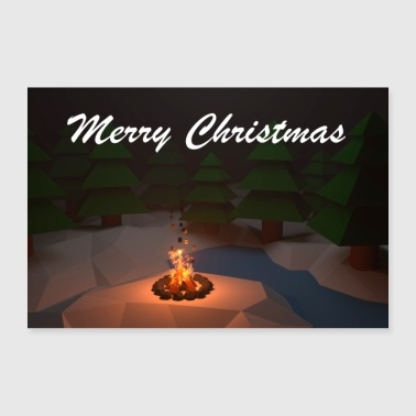 Marry Christmas poster - Poster 90 x 60 cm