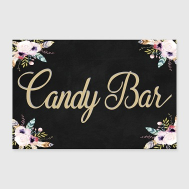 Boho Candy Bar sort 2 - Poster 90x60 cm